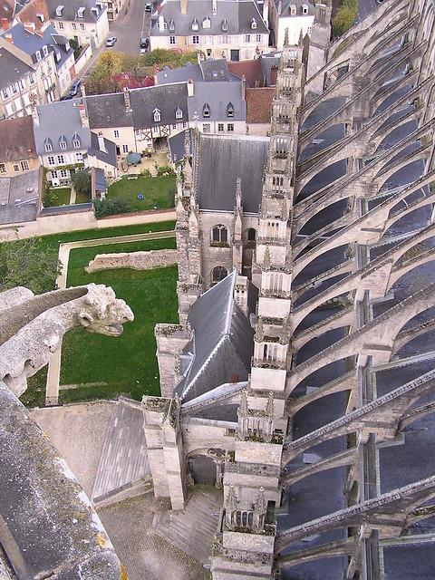 Cathédrale de Bourges vue du toit