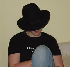 clothing, hair, fedora, hat, cowboy hat, black, headgear,