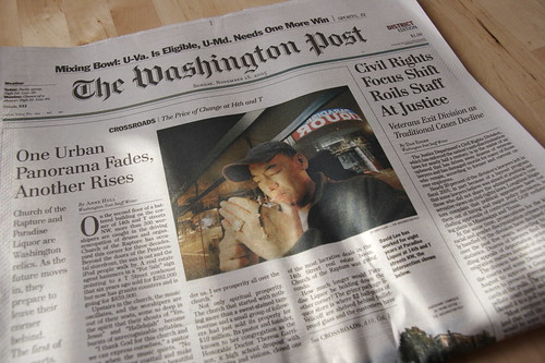Ejemplar del Washington Post