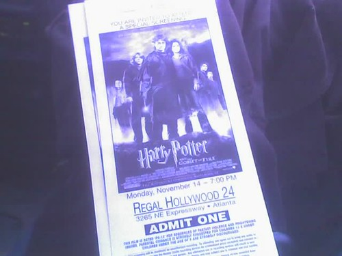 My tickets for HP4!