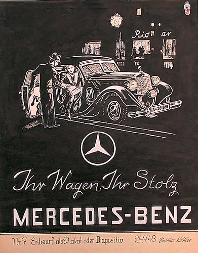Mercedes benz poster ihr wagen ihr stolz a photo on for Mercedes benz poster