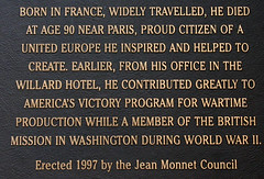 Photo of Jean Monnet black plaque