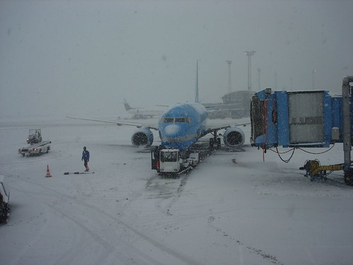 Copenhagen airport in winter