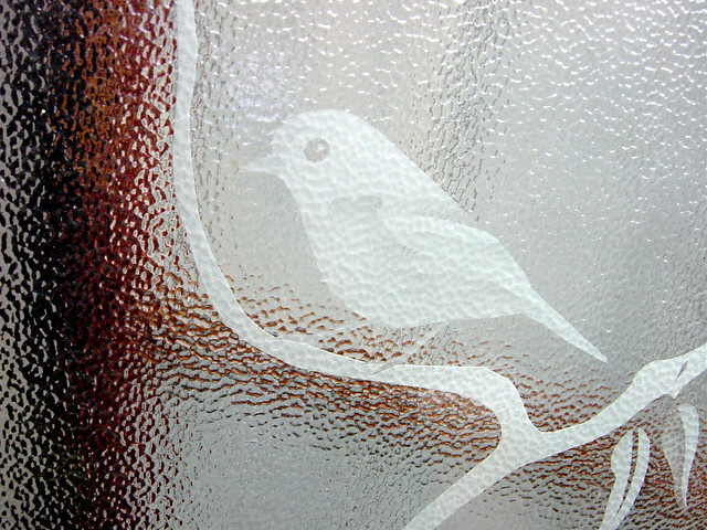 etched bird