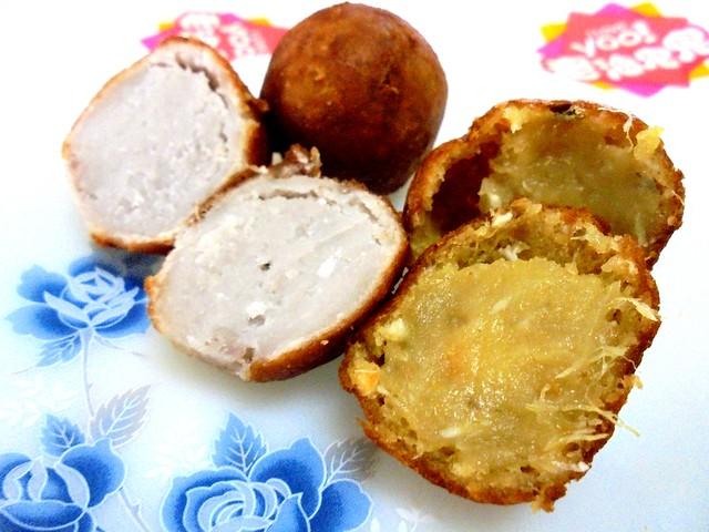 Yam and sweet potato balls