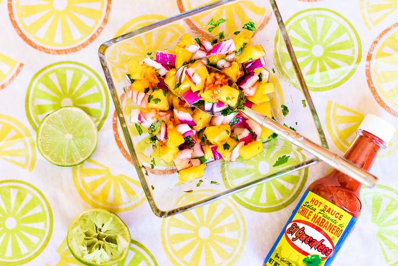 mango habanero salsa recipe #KingOfFlavor