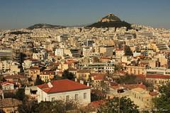 Athène et le mont Lycabette, Grèce