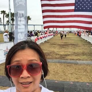 Crossing the #Coronado5K Finish Line. Time for #Selfie. #RunBabyRun