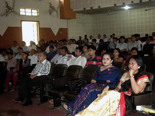 The recipients and guests during the certification distribution ceremony