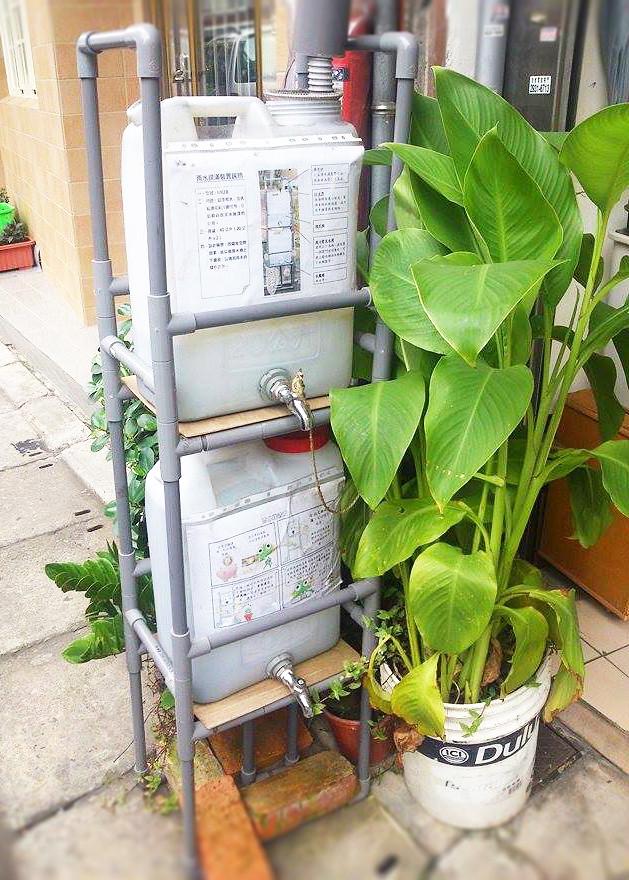 圖一 協會的雨水回收系統