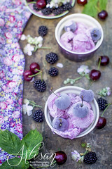 blackberry and cherry ice cream