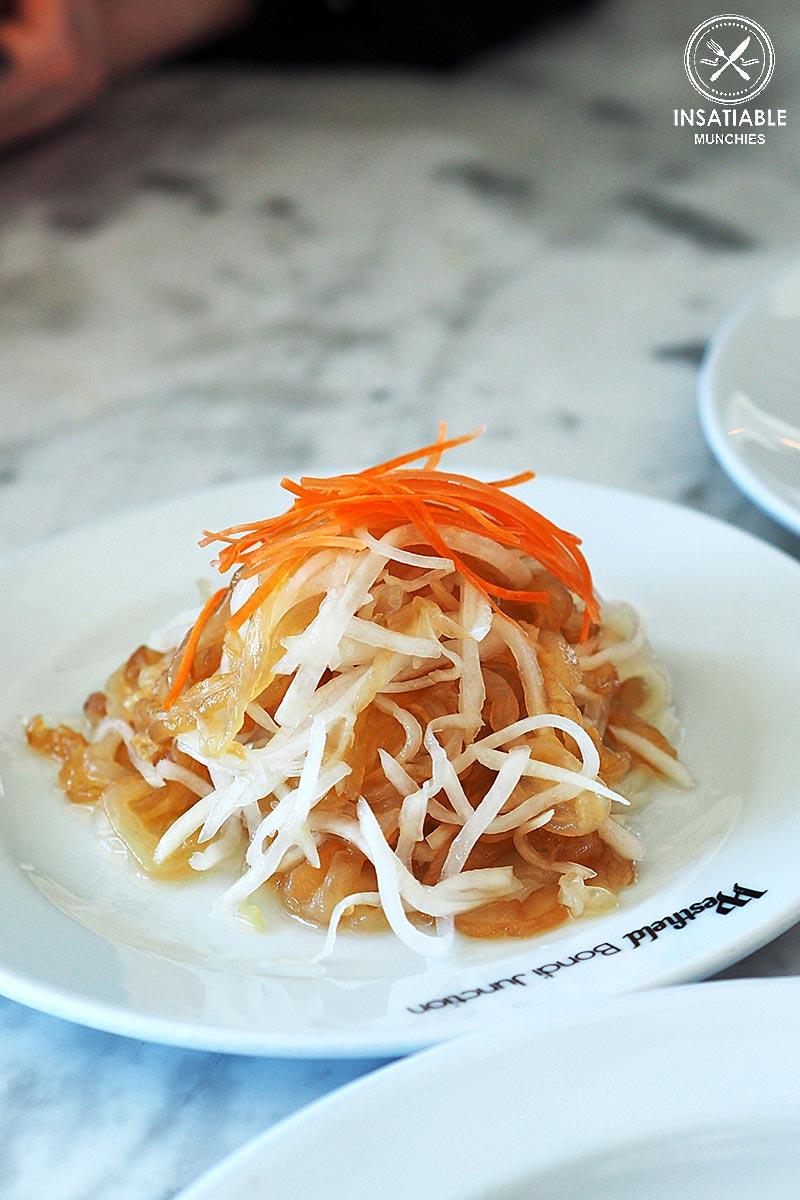 New Shanghai, Bondi: Sydney Food Blog Review: Shredded jellyfish & radish tossed with sea salt & light soy dressing, $7.80