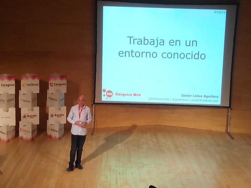 Javier Leiva hablando sobre la recuperación de contenidos