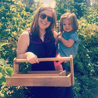 Raspberry picking with Aunt Allie!