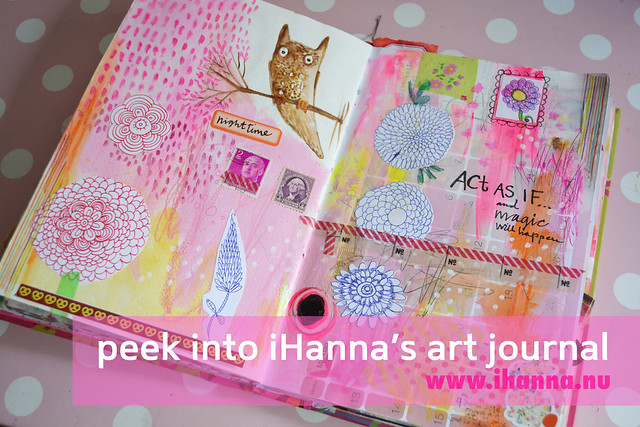 A peek into iHanna's Art journal once again - more details on the blog