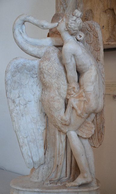 Leda and the Swan, Roman copy of late Hadrianic age from an attic original of mid-1st century BC, Venice Museo Archeologico, Italy