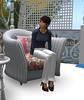Kona in the fancy chair