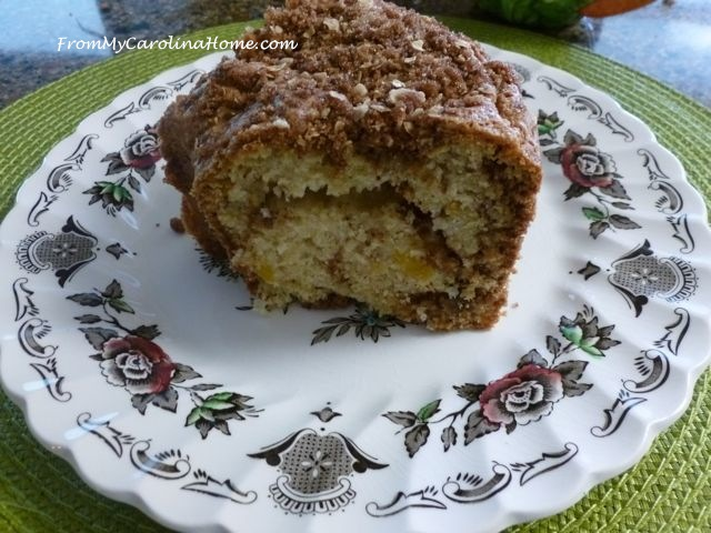Fresh Peach Coffee Cake - FromMyCarolinaHome.com