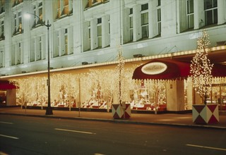 Holiday lighting at Frederick & Nelson, 1965