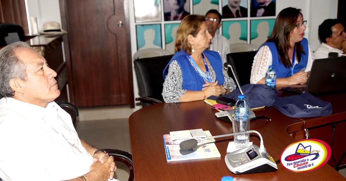 Delegados del CNE Manabí socializaron el proceso electoral con autoridades cantonales