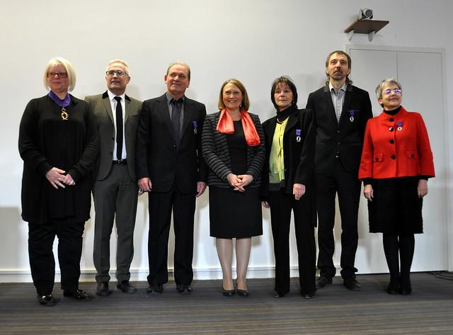 Cérémonie de remise des Palmes académiques aux personnels de l'Espé de l'académie de Lyon