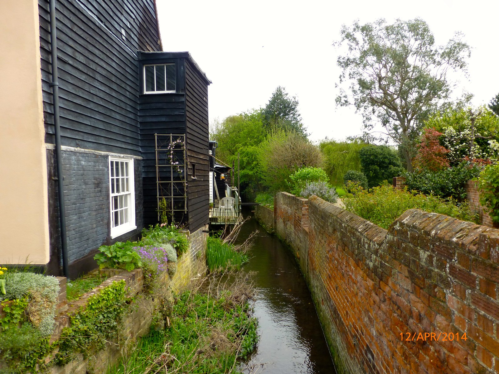 House by stream in Coggeshall SWC Walk 216 Kelvedon Circular