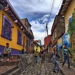 One of Colombia's surprises: Bogota. I'd been five years ago. But either I missed it all, a lot has changed, or both. When you visit the country, give Bogota a bit of time, at least to poke around Candelaria and also to appreciate some fine integrated str