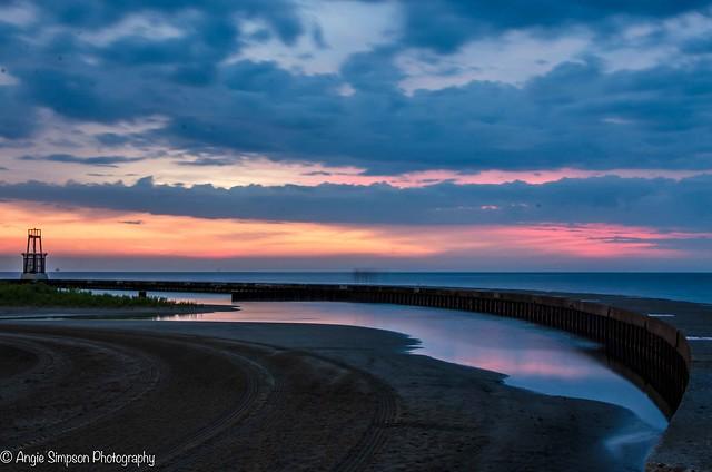 lighthouse sunrise reflection (1 of 1)