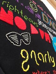 1980s slang embroidery