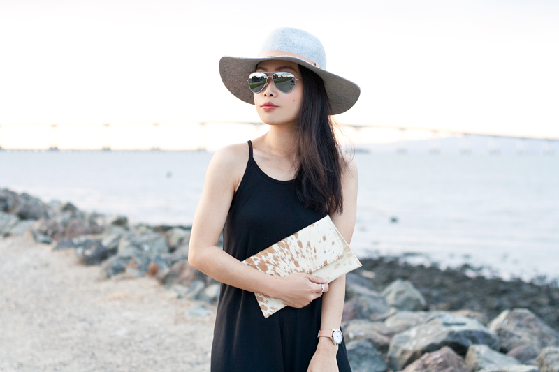 60b2eb380cdb Simple Kind of Life. July 27, 2015. 02-black-dress -fedora-hat-cowhide-sf-sanfrancisco-