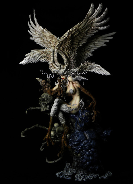 [塗裝完成品公開!] GILLGILL寺田克也版妖鳥死麗濡雕像發表情報