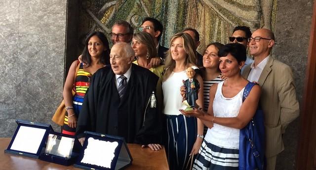 Rutigliano- La prima Toga di Platino italiana è di Rutigliano-Francesco Saverio Campanella, insignito del prestigioso riconoscimento in occasione dei 70 anni d