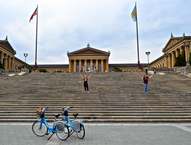 rocky museum - indego bike share philadelphia
