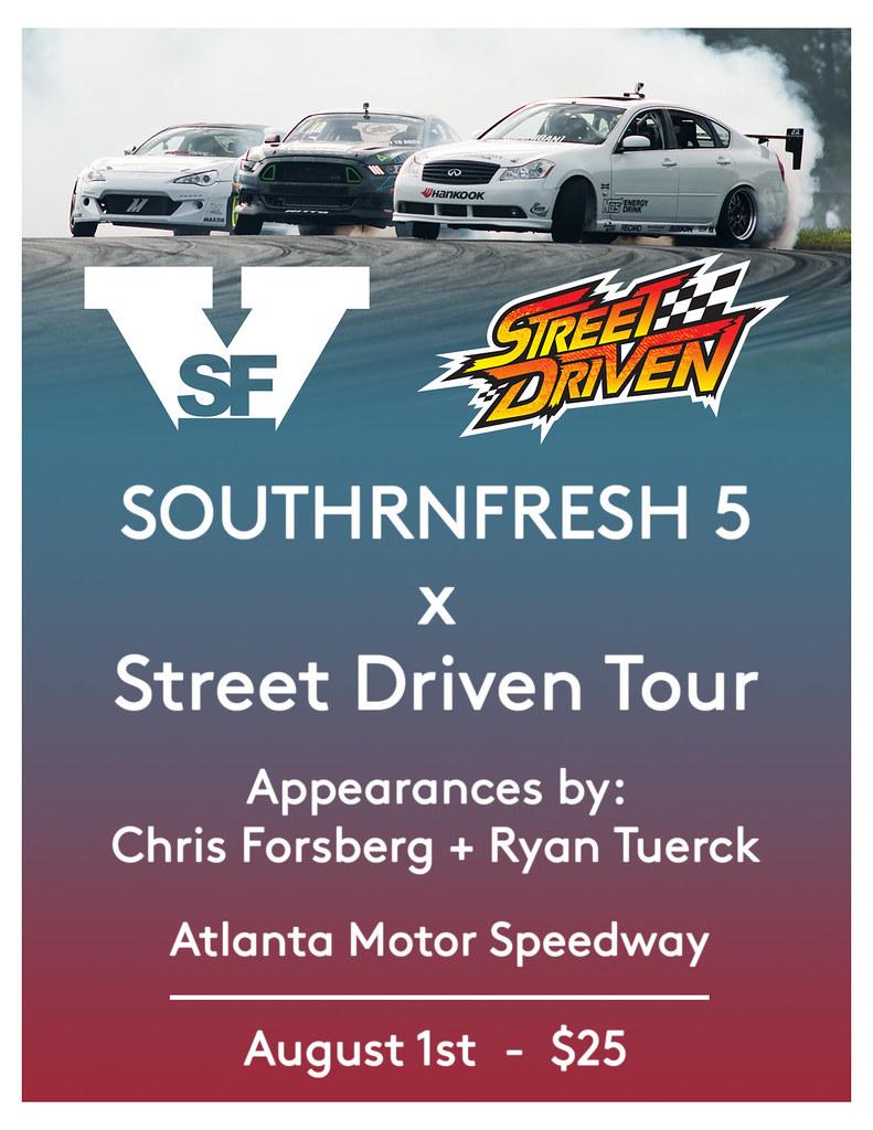 Southrnfresh 5 x street driven tour august 1st atlanta for Atlanta motor speedway ride along