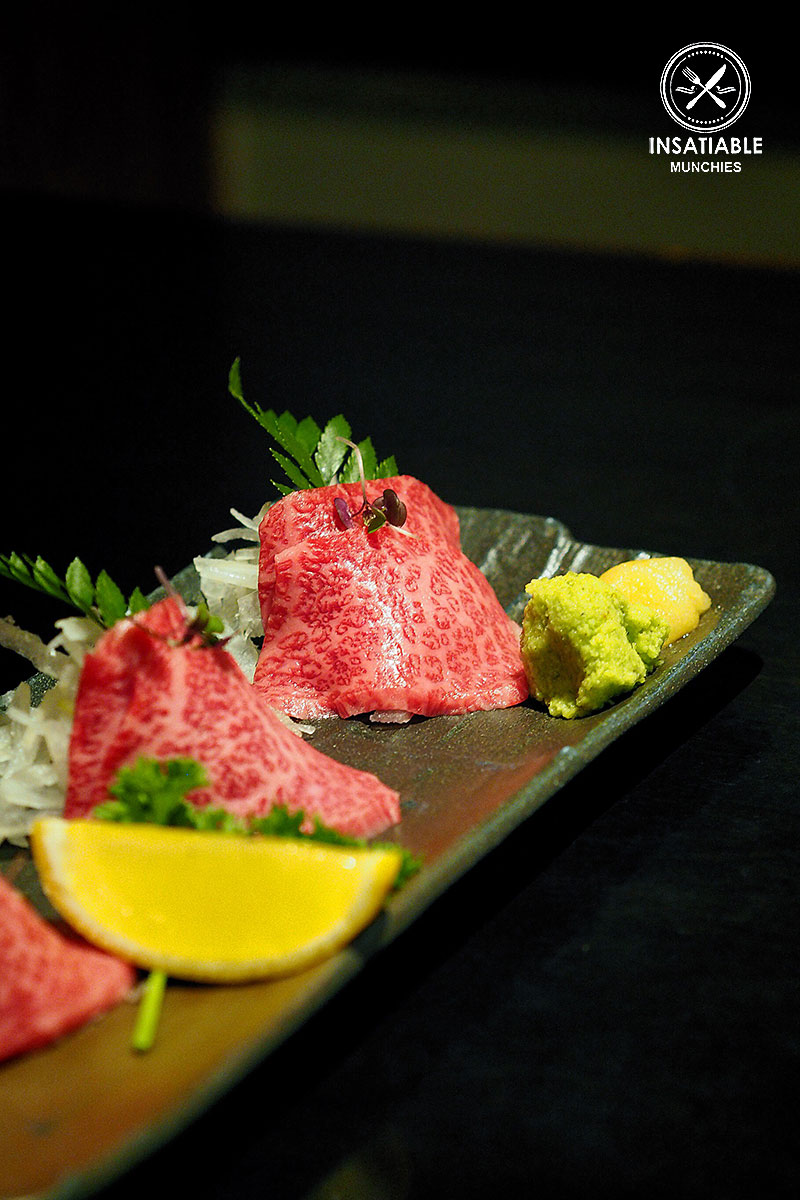 Sydney Food Blog Review of Rengaya, North Sydney: Premium Wagyu Beef Sashimi, $18.90