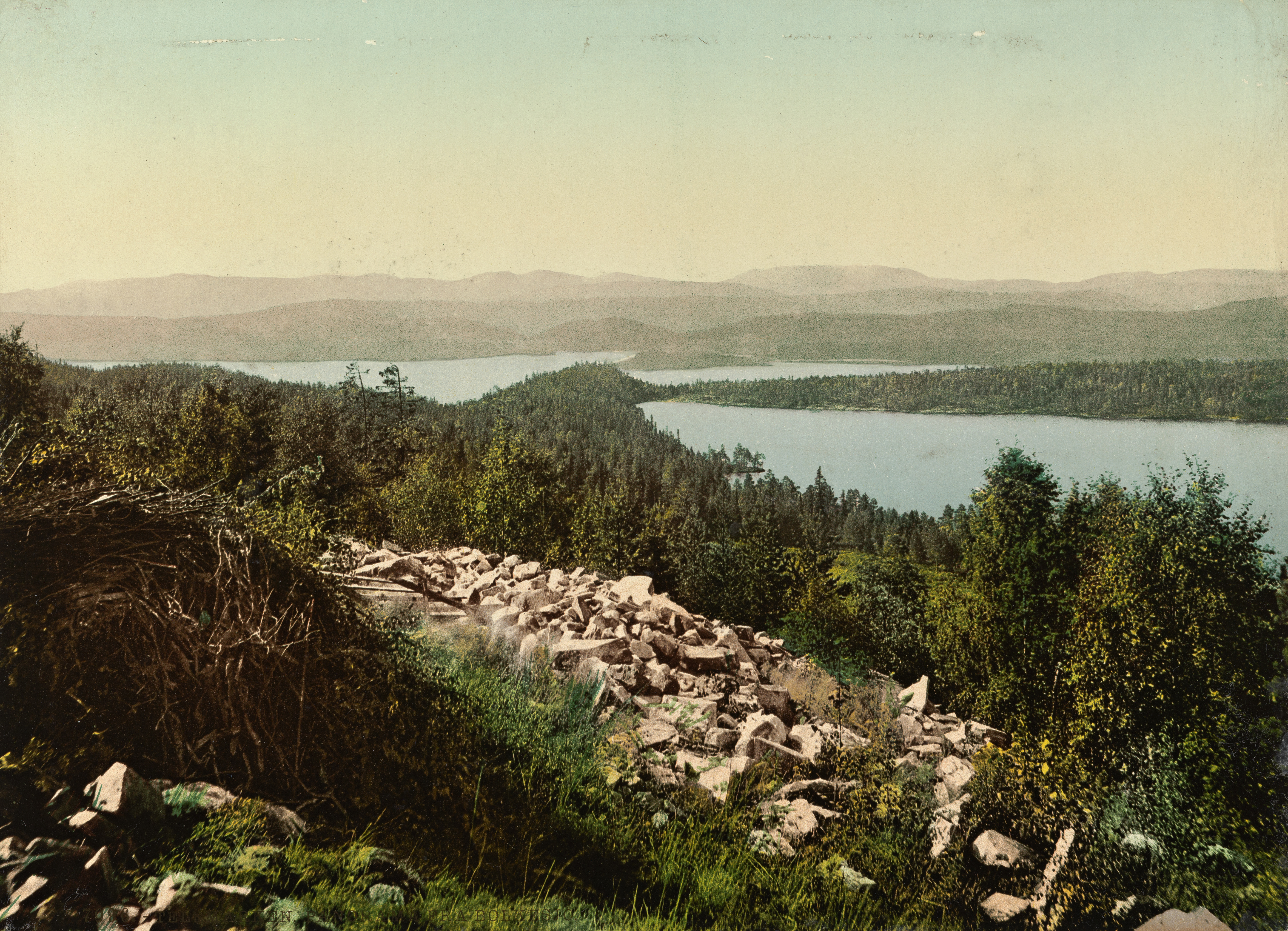 7096. Telemarken. Panorama fra Bolkesjø