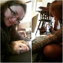 Photo of a photo of a photo... #mybeautifulbaby #lazySabbathafternoon #familytime