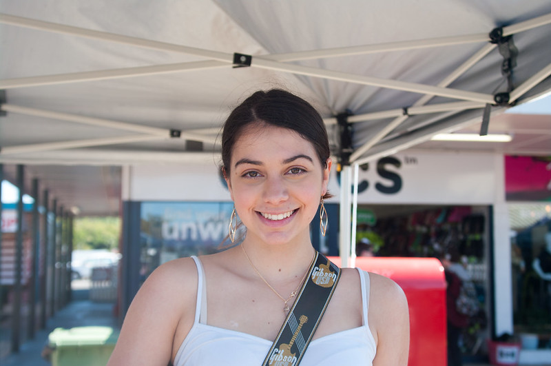 Bree Fielding at the Cleveland Markets, Brisbane SE Australia