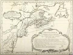Carte d'une partie de l'Amérique septentrionale Pour servir à l'Intelligence du Mémoire sur les prétentions des Anglois au sujet des Limites à régler avec la France dans cette Partie du Monde . - [1760?]