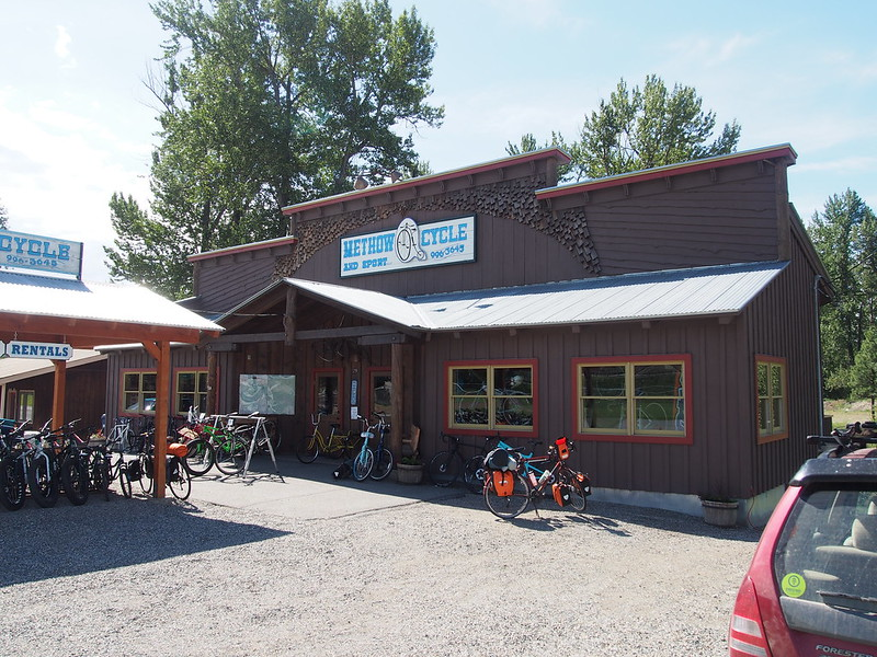 Methow Cycle and Sport: We suggested smaller chainrings when we stopped there, but the shop ended up giving Kyle a large cassette.  It definitely didn't help much at all.