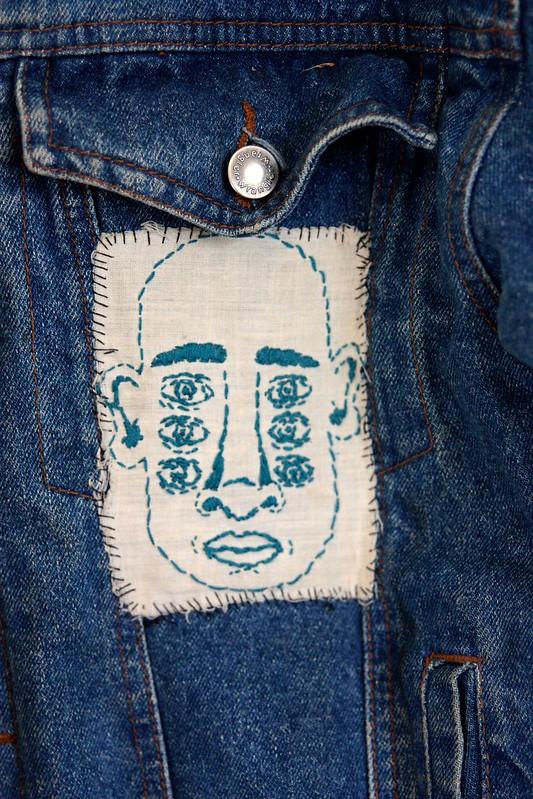 embroidered six eye