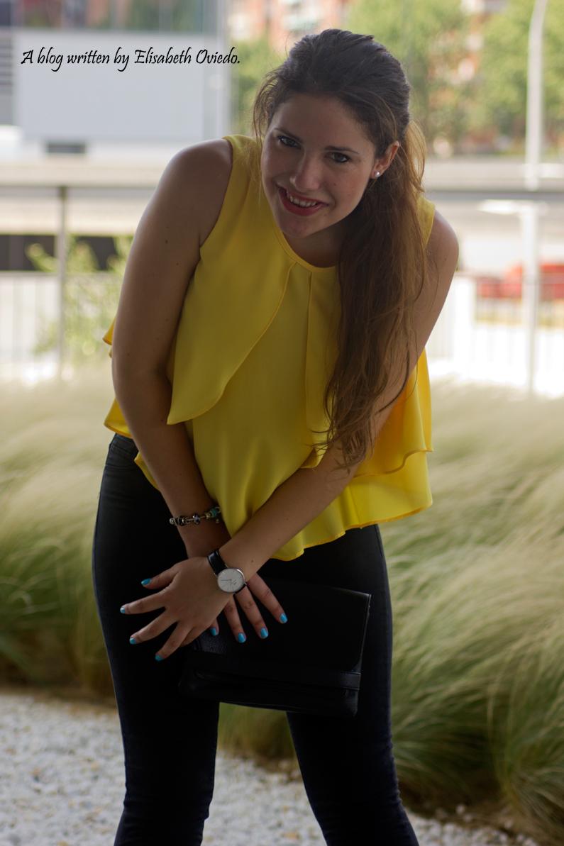 blusa amarilla zara leggings negros heelsandroses (4)