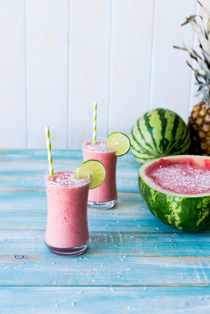 'Otai - Tongan Watermelon Drink. A refreshing watermelon coconut drink from Polynesia. Easy to make and delicious to drink. www.pineappleandcoconut.com