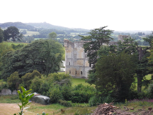 Old Wardour Castle from up in The Hanging