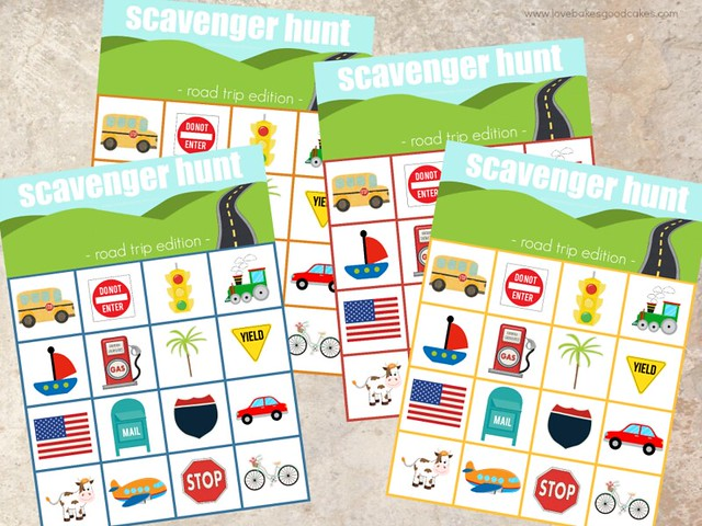 No road trip is complete without car games and snacks! Download this Road Trip Scavenger Hunt Printable and see how easy it is to make road trip snack boxes! #HorizonSnacks #ad