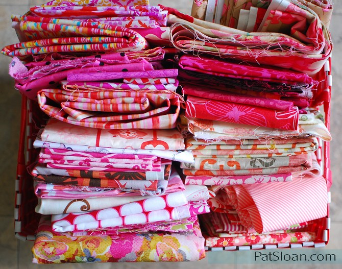 pat sloan pink fabric