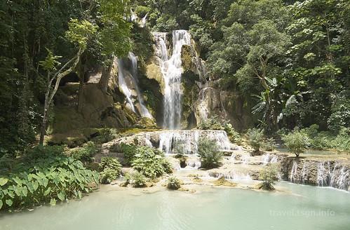【写真】世界一周 : クアンシーの滝・滝壺(午前)