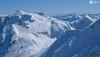 Žlábek Wintergasse při pohledu z výstupu ba Hocharn