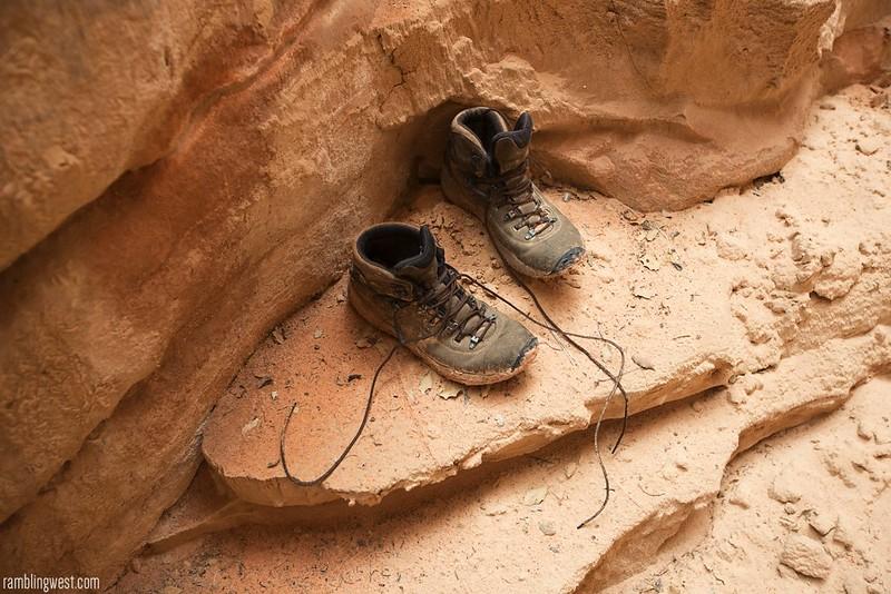 Abandoned Boots, Buckskin Gulch image
