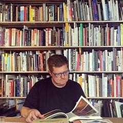 An artist with his books #JosiahMcElheny